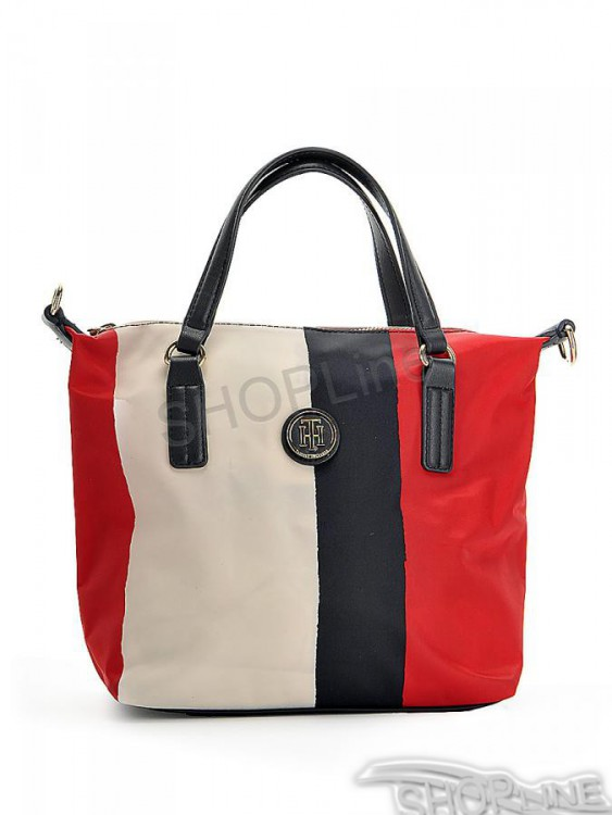 Kabelka Tommy Hilfiger Poppy Small Tote Vertical Srtipe - AW0AW04039904 573be085b47