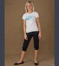 Nohavice NIKE TS4YL CROPPED LEGGING - 413545-010