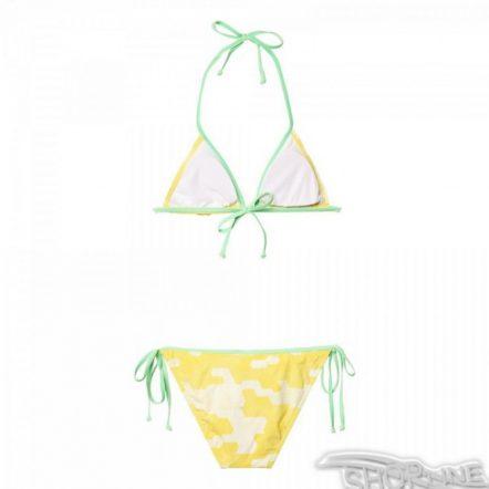Plavky Adidas Nga Allover Printed Triangle Bikini W - AJ7920
