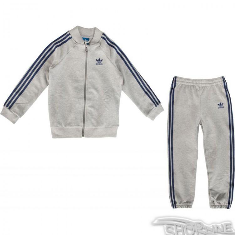 67b9038c0 Súprava Adidas ORIGINALS Medium Grey Heather Tracksuit Kids - S95995 ...
