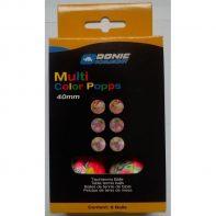 Pingpongové loptičky Donic Multicolor Popps 6 pcs - SSB0120