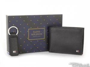 Peňaženka Tommy Hilfiger Eton Ho Cc Flap And Coin Packet Box - AM0AM01184002