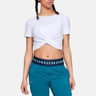 Tričko Under Armour Lightweight Lux Crop Tee W - 1305484-100
