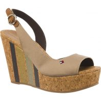 Sandálky Tommy Hilfiger WEDGE WITH PRINTED STRIPES 068 - FW0FW02794-068