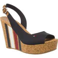 Sandále Tommy Hilfiger WEDGE WITH PRINTED STRIPES 403 - FW0FW02794-403