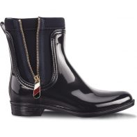 Gumáky Tommy Hilfiger MATERIAL MIX RAIN BOOTS 403 - FW0FW03562-403