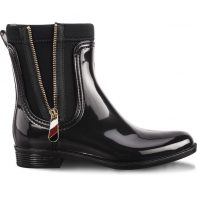 Gumáky Tommy Hilfiger MATERIAL MIX RAIN BOOTS 990 - FW0FW03562-990