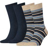 Ponožky Tommy Hilfiger Men Variation Stripe So 360 - 342010001-360