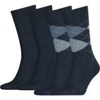 Ponožky Tommy Hilfiger Men Sock Check 2P 356 - 391156-356