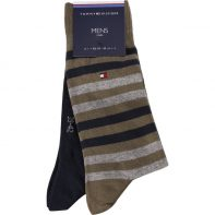 Ponožky Tommy Hilfiger MEN DUO STRIPE SOCK 2PACK 150 - 472001001-150