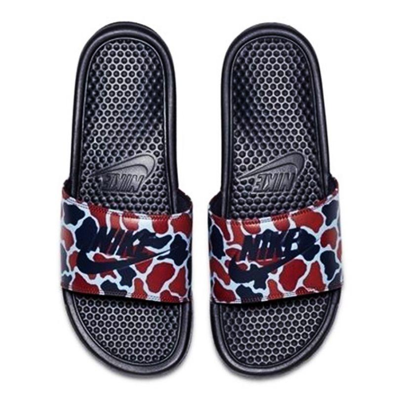Šľapky Nike Benassi Just Do It Print - 631261-405  2ee81ca756d