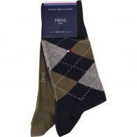 Ponožky Tommy Hilfiger MEN SOCK CHECK 2PACK 150 - 931156-150
