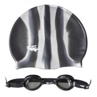 Plavecká čiapka + okuliare ZEBRA 1100 AF 11 BLACK + MI 2 - 11-7-004