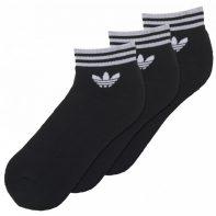 Ponožky Adidas ORIGINALS Trefoil Ankle Stripes 3pak - AZ5523