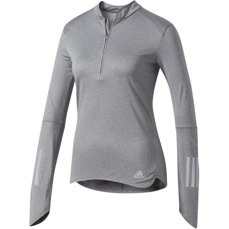 Tričko Adidas Response 1 2 Zip Long Sleeve Tee W - B47695  6cfcc8f54ed
