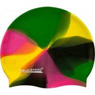 Plavecká čiapka Aqua-Speed Bunt 90 zielono-żółto-czarno-różowyBunt 90 zielono-żółto-czarno-różowy