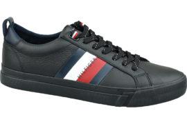 Tommy Hilfiger Flag Detail Leather Sneaker FM0FM02576-BDS