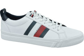Tommy Hilfiger Flag Detail Leather Sneaker FM0FM02576-YBR